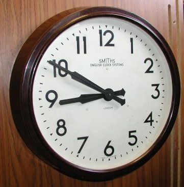 English Clock Systems