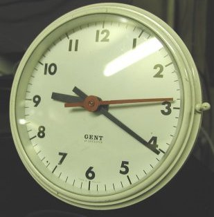 Gent 1 second movement panel clock