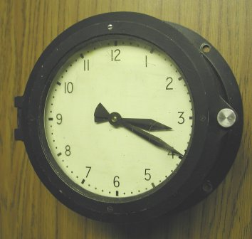 Marine cased slave clock